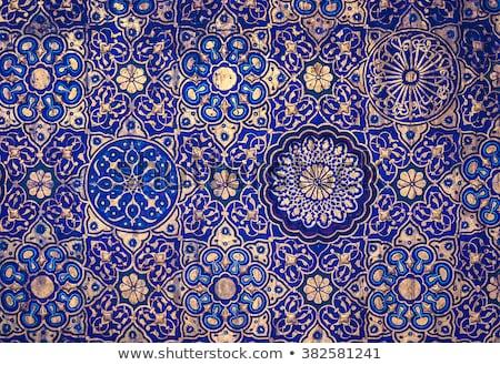 Albastru moschee tavan Istambul Turcia Imagine de stoc © photoblueice