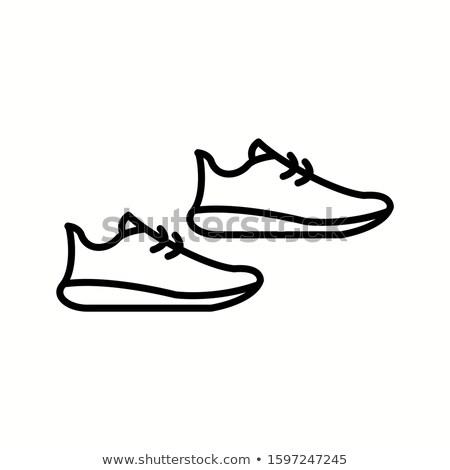 chaussures · démarrage · icônes · vecteur · femme - photo stock © stoyanh