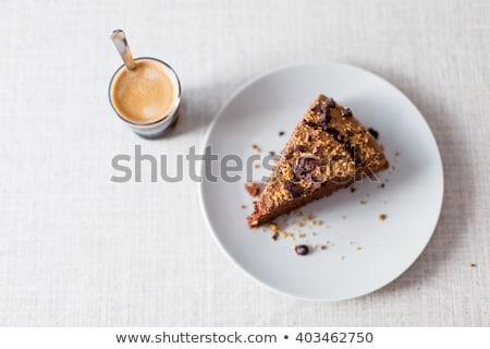 dió · torta · fél · dió · eper · menta - stock fotó © phbcz
