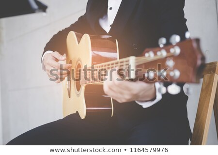 guitarist in suit Stock photo © Paha_L