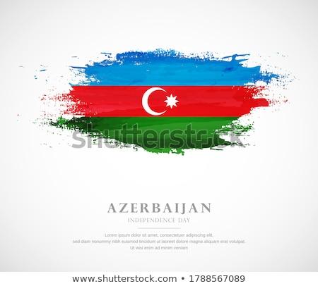 Азербайджан Гранж флаг старые Vintage гранж текстур Сток-фото © HypnoCreative