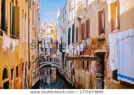 çamaşırhane Venedik İtalya elbise açık Stok fotoğraf © johnnychaos