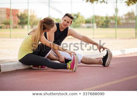 kadın · dokunmak · ayak · parmakları · egzersiz · sağlık · spor · salonu - stok fotoğraf © darrinhenry