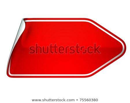 Red unstick bent sticker or label  Stock photo © Arsgera