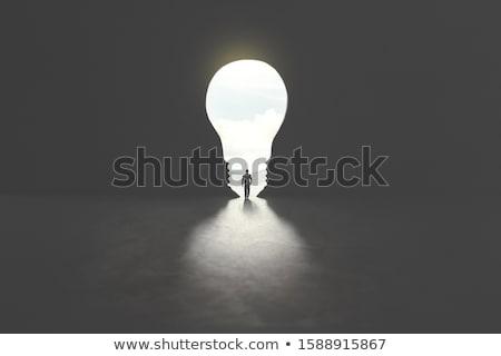 Clean energy, a light bulb with a bright sky Stock photo © rufous