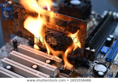 burning computer mainboard Stock photo © gewoldi