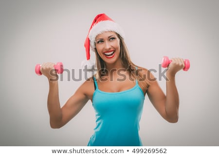 гири · женщину · расслабиться · тренировки · красный · спортзал - Сток-фото © nobilior