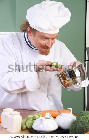 смешные · молодые · повар · Брюссель · обед · кухне - Сток-фото © vladacanon