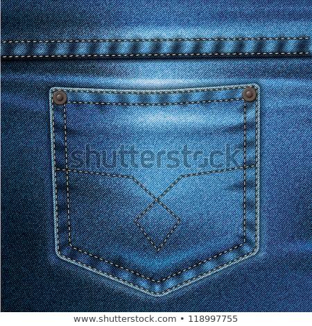 Jeans zak lege label geïsoleerd witte Stockfoto © ashumskiy