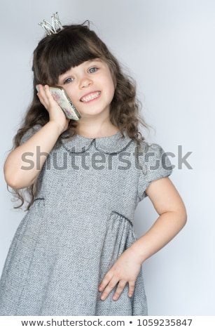 Little girl using an old fashioned telephone Stock photo © photography33