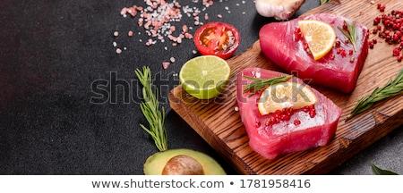 fresco · atum · peixe · bife · pronto · cozinhar - foto stock © chrisjung