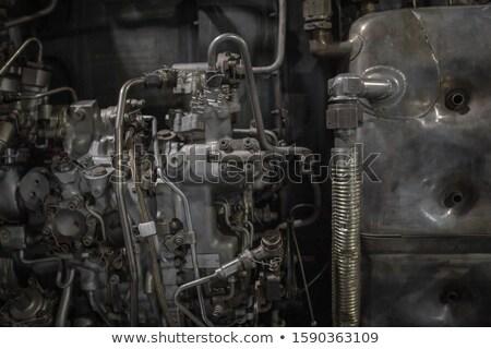 Jet motor gecompliceerd sanitair buizen binnenkant Stockfoto © bobkeenan