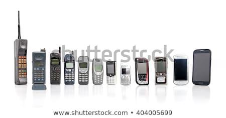 Vieux téléphone portable téléphone portable isolé blanche technologie Photo stock © remik44992