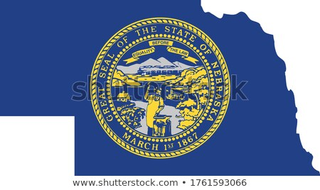 Bandeira Nebraska vento azul cor Foto stock © creisinger