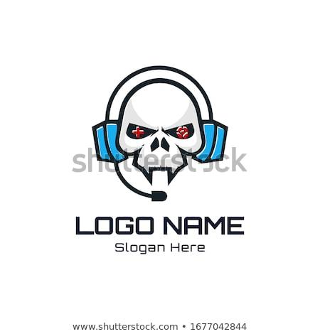skull with headphone stock photo © vectomart
