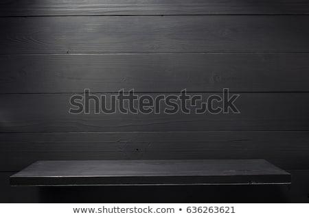 Kitaplar tablo karanlık açmak boş sayfa kalem Stok fotoğraf © ajfilgud