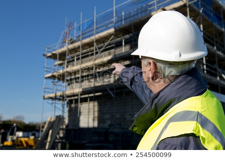 Building Inspector on Scaffolding Stock photo © lisafx