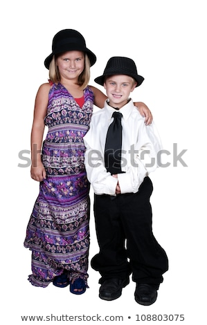 little boy dressed in business man is working stock photo © photography33