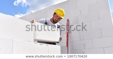 bricklayer constructing wall stock photo © photography33