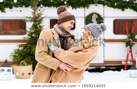 Affectionate couple hugging outdoors Stock photo © photography33