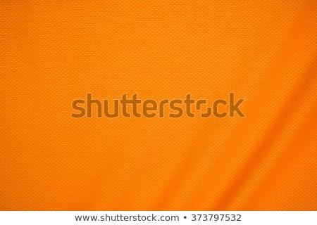 Turuncu spor tekstil doku Stok fotoğraf © grivet