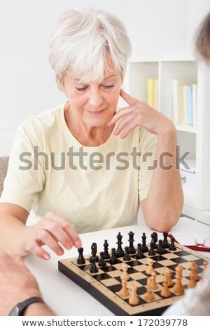 érett feleség üzletember sakk menedzser házasság Stock fotó © photography33