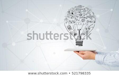 marketing · plano · tela · estratégias · gestão - foto stock © stuartmiles