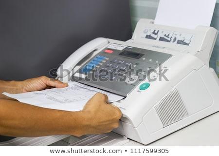 Faxgép fehér üzlet telefon modern vonal Stock fotó © FOKA