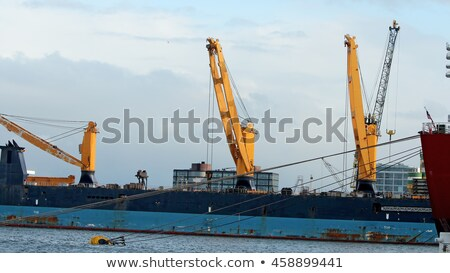 Scheepvaart vracht haven Blauw boot industrie Stockfoto © Alenmax