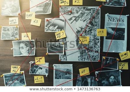 Nyomozás szó piros szín szöveg fehér Stock fotó © tashatuvango