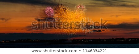 Fireworks over the Ocean stock photo © oliverjw