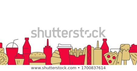 ストックフォト: ファストフード · バー · ドリンク · ボトル · イチゴ