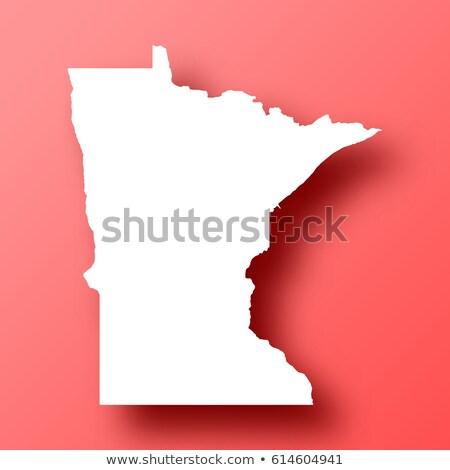 Minnesota · 3D · ayarlamak · simgeler · harita - stok fotoğraf © cteconsulting