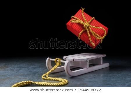 サンタクロース · そり · ギフトボックス · クリスマス · 雪 · 背景 - ストックフォト © hasloo