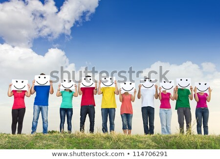 A row of young and smiley people Stock photo © photography33