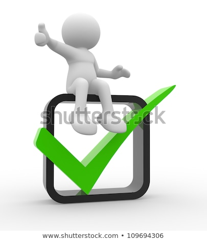 Checkbox Or Check Box Showing Approval Or Checked Stock photo © stuartmiles