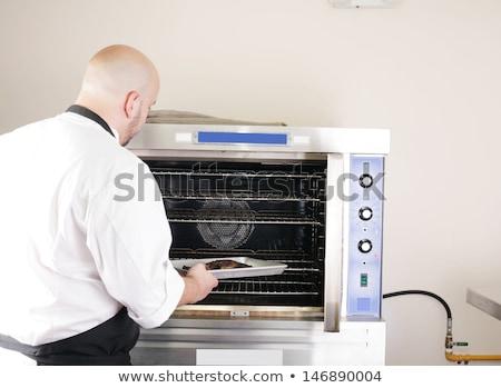 chef · cucharón · maduro · profesional · hombre · aislado - foto stock © dacasdo