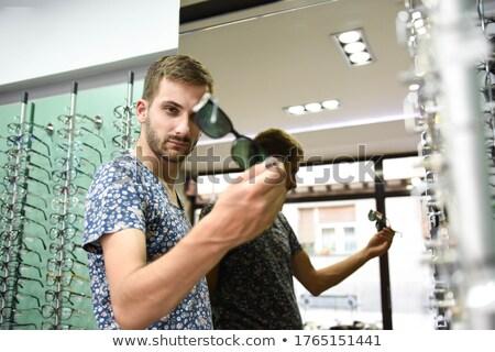 человека · оптик · оптик · покупке · очки · магазин - Сток-фото © kzenon