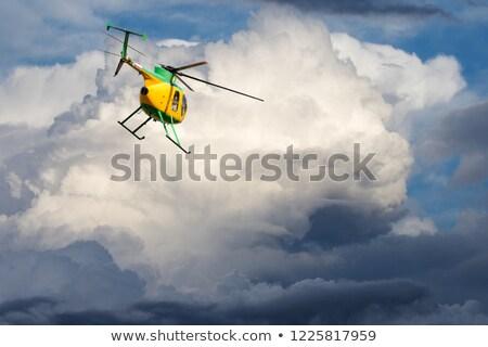ヘリコプター 青空 雲 いい 日 空 ストックフォト © BSANI