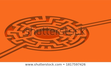 Turn On the Brain: Orange Puzzle. Stock photo © tashatuvango