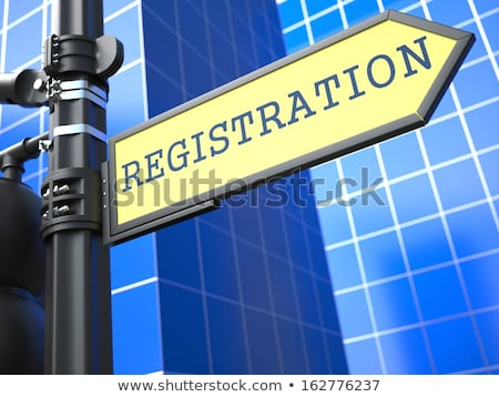 Registration. Yellow Roadsign. Stock photo © tashatuvango