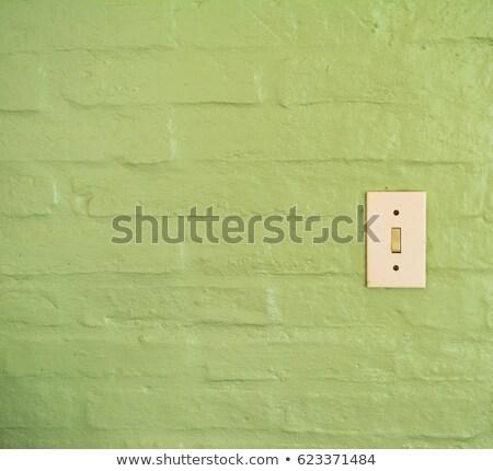 Vintage interrupteur de lumière orange mur lumière Photo stock © stevanovicigor