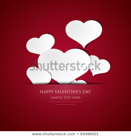 valentines day stylish text card for heart colorful background stock photo © bharat