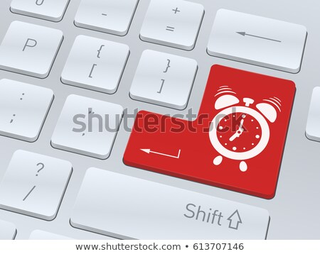 teclado · cronógrafo · portátil · 3d · Internet · reloj - foto stock © tashatuvango
