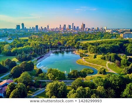 Foto d'archivio: Parco · Varsavia · città · Polonia · acqua · albero