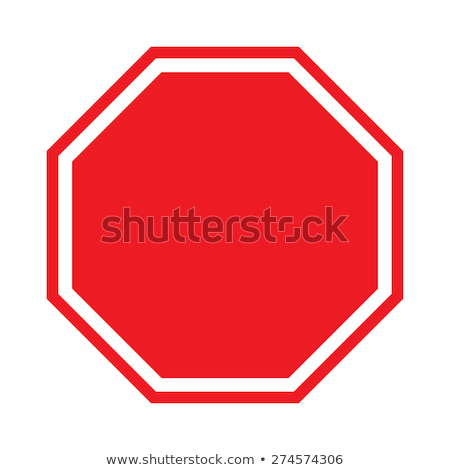 Blank Stop Sign vector illustration © Burak Çakmak (burakowski