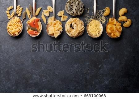 パスタ · 木製 · ボックス · 料理 · 先頭 - ストックフォト © zhekos