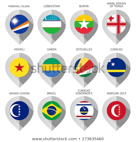 Map marker with flag-set eleventh Stock photo © Ecelop