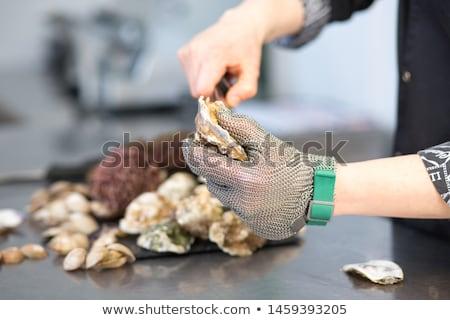 Frutos do mar segurança símbolo camarão verificar Foto stock © Lightsource