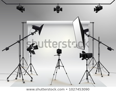 empty photo studio with lighting equipment stock photo © tetkoren